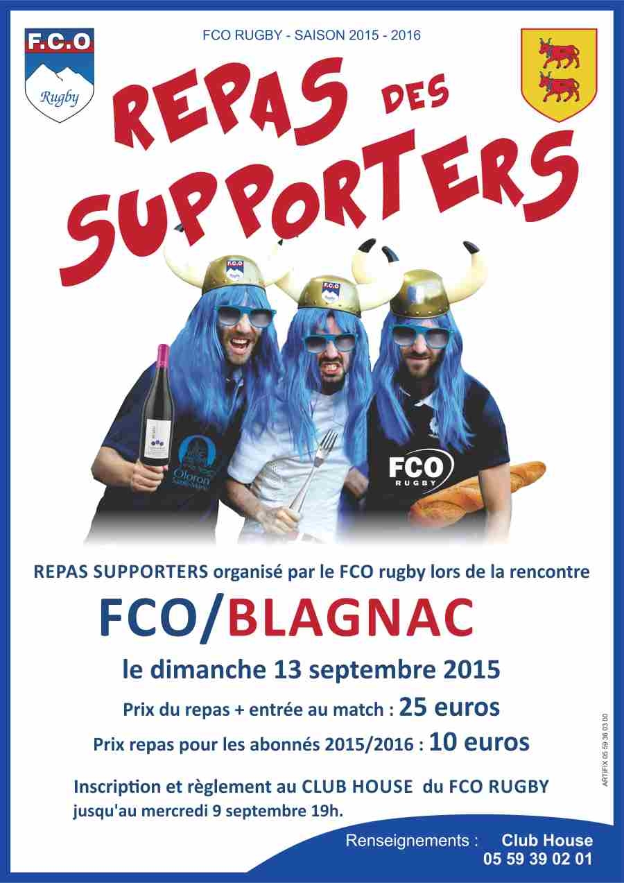 affiche repas supporters